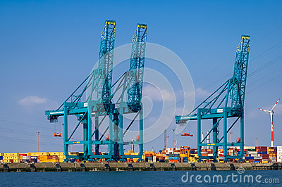 Port of Antwerp, Belgium Editorial Image