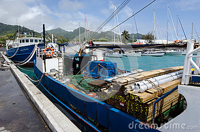 Port of Avatiu - Island of Rarotonga, Cook Islands Editorial Stock Photo