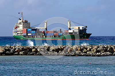 Port of Avatiu - Island of Rarotonga, Cook Islands Editorial Image
