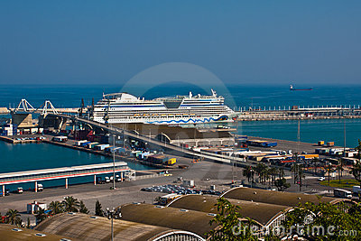 The port of Barcelona