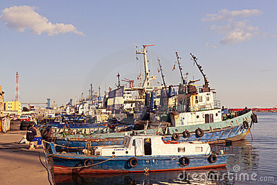 Port berth in Constanta Editorial Stock Image
