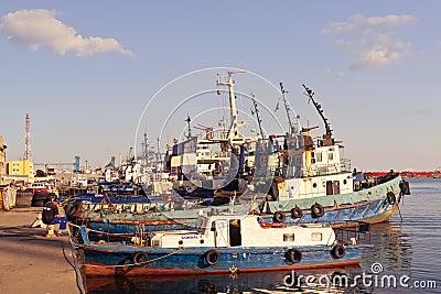 Port berth in Constanta Editorial Stock Image