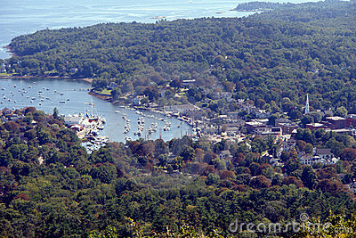 Port of Camden on the Scenic Coast of Maine