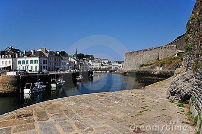 Port and citadel of Le Palais at Belle Ile in Fran