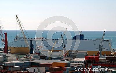 Port commercial, salerno