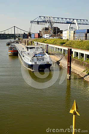 Port crane and  container Terminal Editorial Stock Photo