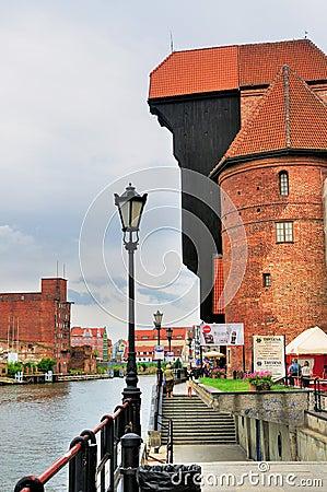 Port Crane, Gdansk Editorial Stock Image