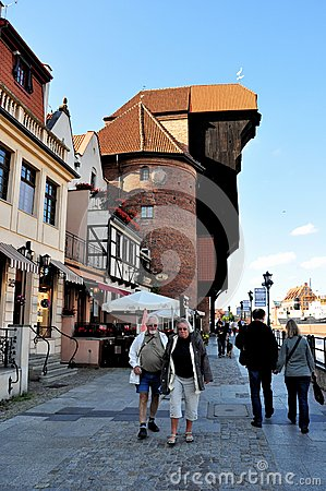 Port crane, Gdansk, Poland Editorial Photo