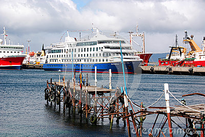 Port d Ushuaia Photo éditorial