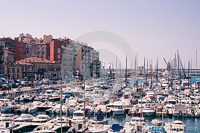 Port de Nice in French Riviera Editorial Image