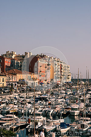 Port de Nice in French Riviera Editorial Stock Photo