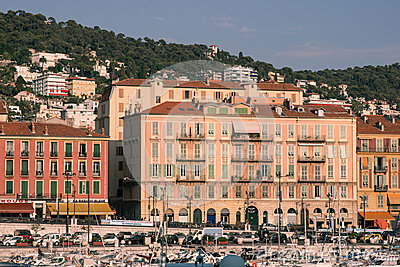 Port de Nice in French Riviera Editorial Photo