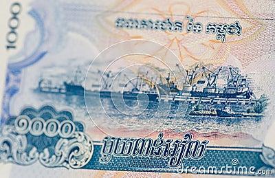 Port de Sihanoukville, Kampong Saom, billet de banque
