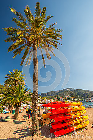 Port de Soller beach Editorial Photography