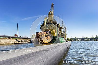 Port dredging