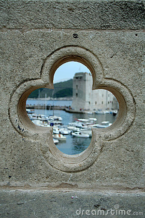 Port in Dubrovnik in the hole