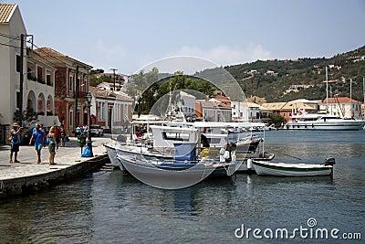 Port of Gaios (Paxos, Greece) Editorial Stock Image