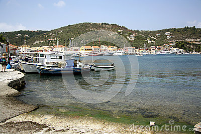 Port of Gaios (Paxos, Greece) Editorial Stock Photo