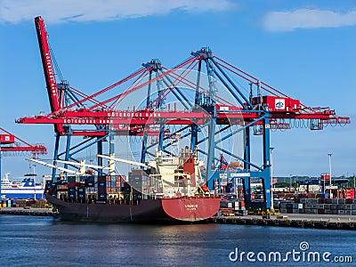 Port of Gothenburg, Sweden Editorial Image