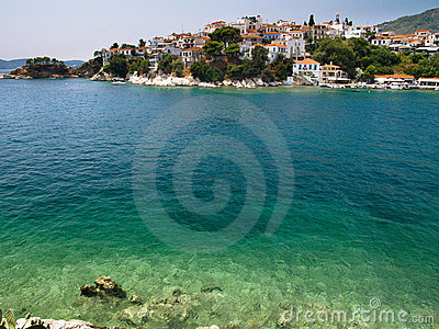 Port on the Greek island of Skiathos