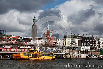 Port of Hamburg Editorial Stock Image