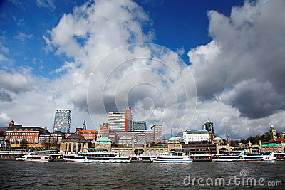 Port of Hamburg Editorial Stock Image