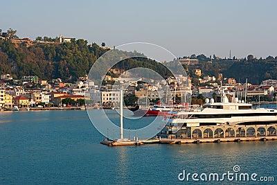 Port, infront city Zakynthos