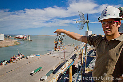 Port of Ingeniero White in Argentina. Editorial Image