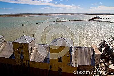 Port of Ingeniero White in Argentina. Editorial Photo