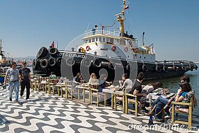 Port of Izmir, Turkey Editorial Photography
