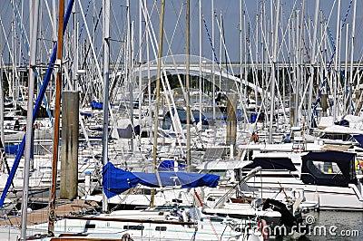 Port of La Trinite sur Mer in France
