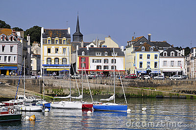 Port of Le Palais at Belle Ile in France