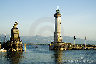 Port Lindau Editorial Stock Photo