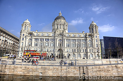 The Port of Liverpool Building Editorial Stock Photo