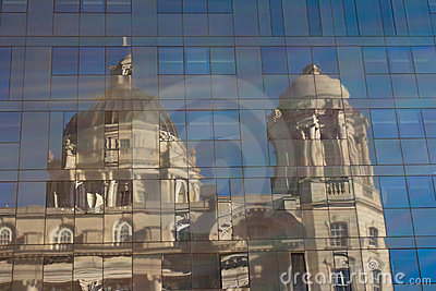 Port of Liverpool building reflected