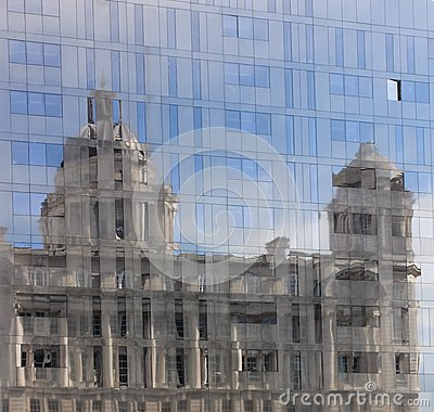 The Port of Liverpool Building reflected