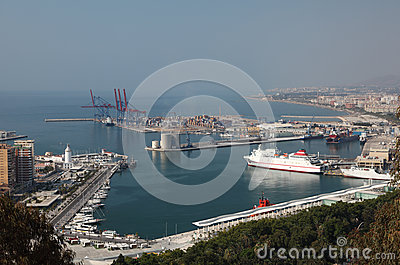 Port of Malaga, Andalusia Spain