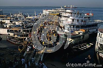 . Port of  MANAUS.  BRAZIL Editorial Photography