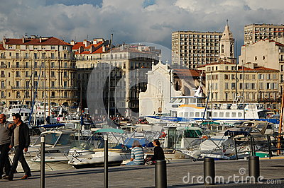 Port of Marseilles, France Editorial Stock Image
