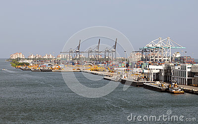 Port of Miami operations Editorial Stock Photo