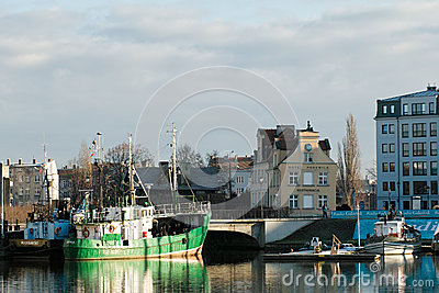 Port in middle centre. Editorial Stock Photo