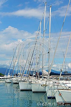 Port of Moniga del Garda on Lake Garda, Italy Editorial Image