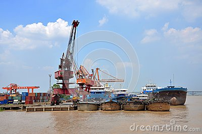 Port of Nanjing, China Editorial Stock Image