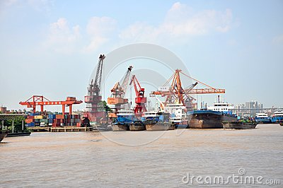 Port of Nanjing, China Editorial Photo