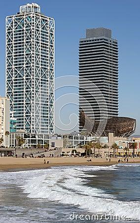 Free Port Olympic, Barcelona. Royalty Free Stock Image - 1374016