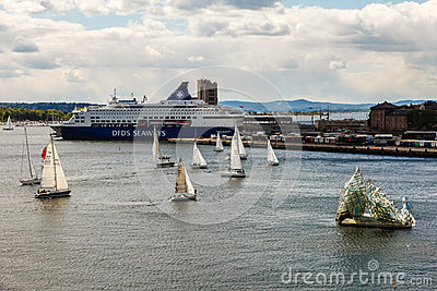 Port of Oslo Editorial Photography