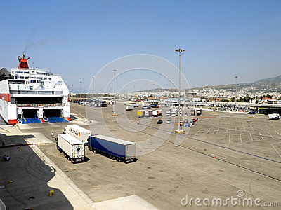 Port of Patras, Greece Editorial Photo
