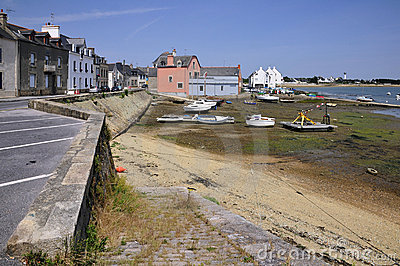 Port of Port Louis in Brittany in France