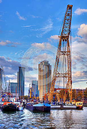 The Port of Rotterdam Editorial Photography