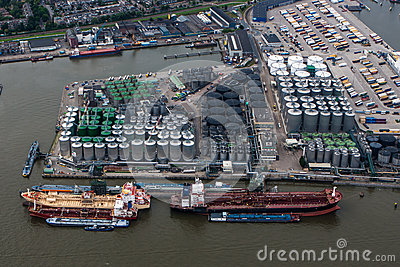 Port of Rotterdam Editorial Stock Image